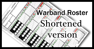 Warband Roster sheet - a4, shortened to get more characters per sheet